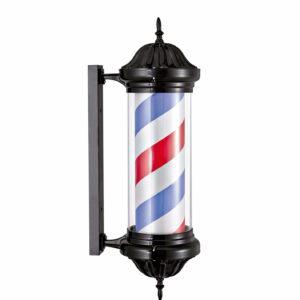 Polo barbero negro Luminoso y rotativo