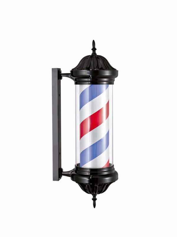 Polo barbero negro Luminoso y rotativo 04578