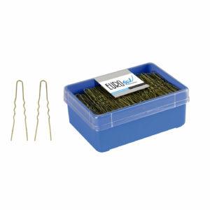 Caja 400 horquillas invisibles doradas 5,5 cm