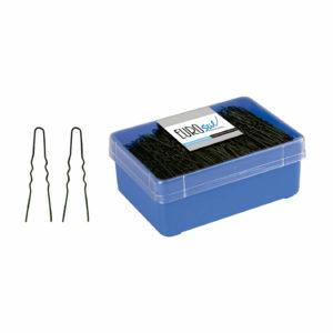 Caja 400 horquillas invisibles negras 5,5 cm