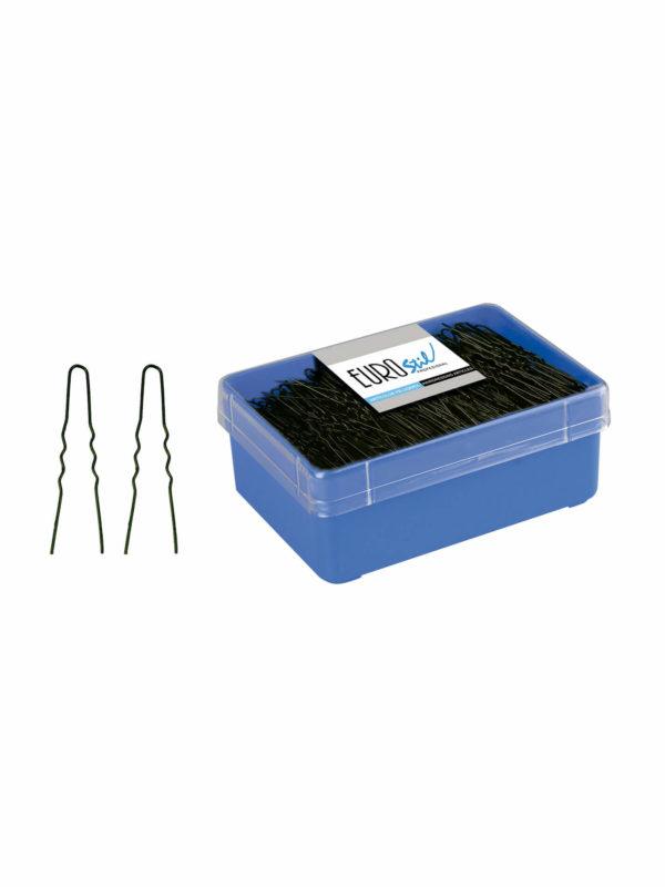 Caja 400 horquillas invisibles negras 5,5 cm 01616/50