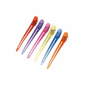 Bolsa 6 pinzas metal plástico colores 12 cm