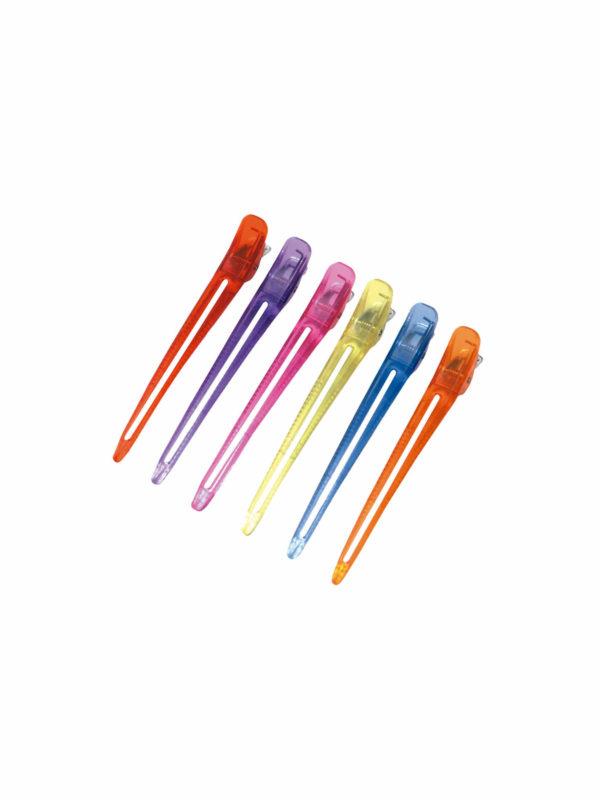 Bolsa 6 pinzas metal plástico colores 02524_99
