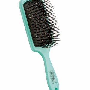 Cepillo fuelle desenredar para cabello seco y mojado color turquesa