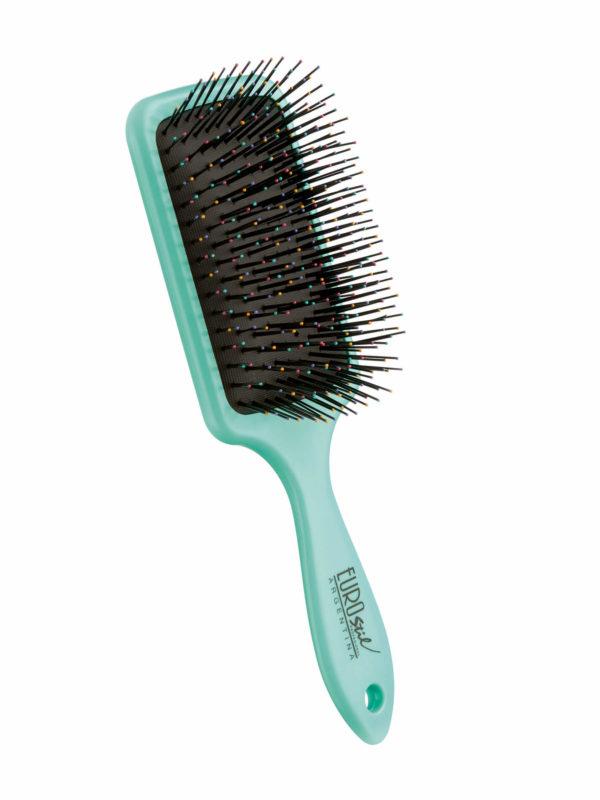 Cepillo fuelle desenredar para cabello seco y mojado color turquesa 04280