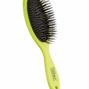 Cepillo fuelle desenredar para cabello seco y mojado color verde