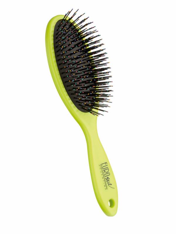 Cepillo fuelle desenredar para cabello seco y mojado color verde 04281