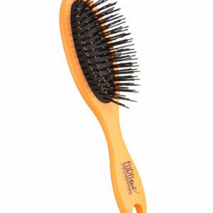 Cepillo fuelle desenredar para cabello seco y mojado color naranja