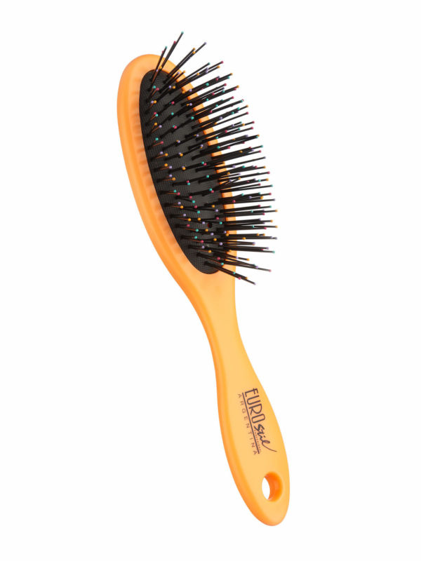 Cepillo fuelle desenredar para cabello seco y mojado color naranja 04282