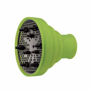 Difusor plegable de silicona verde