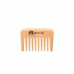 Peine madera mango barba-bigote 9 cm