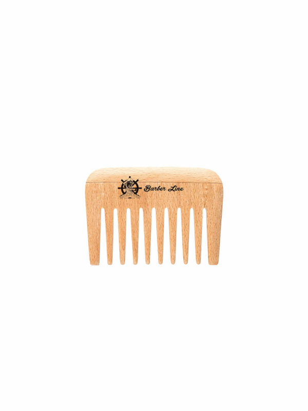 Peine madera ancho barba-bigote 04548