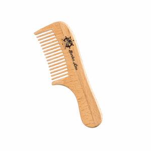 Peine madera ancho barba-bigote 10 cm