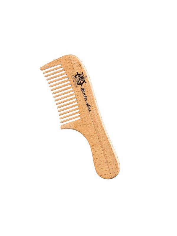 Peine madera ancho barba-bigote 04549