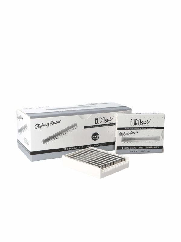 10 cajas de 10 cuchillas profesionales Styling Blades EUROSTIL 07123