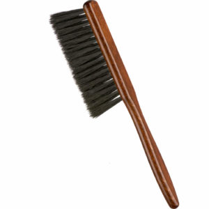 Cepillo barbero madera púas pulidas