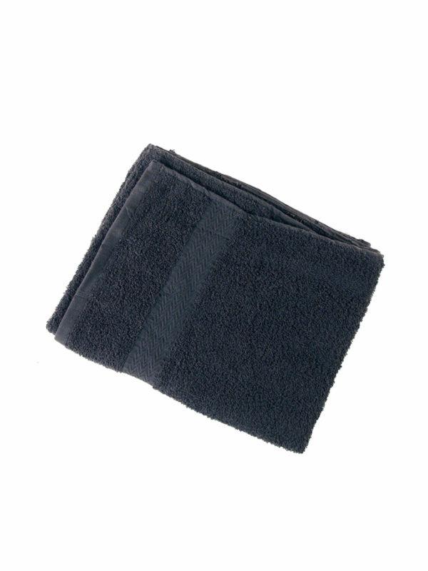 Bolsa 3 Toallas Negras 100% algodón 74 x 46 cm 52947/50