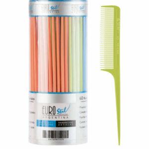 Bote 60 peines púa plástico especial colores