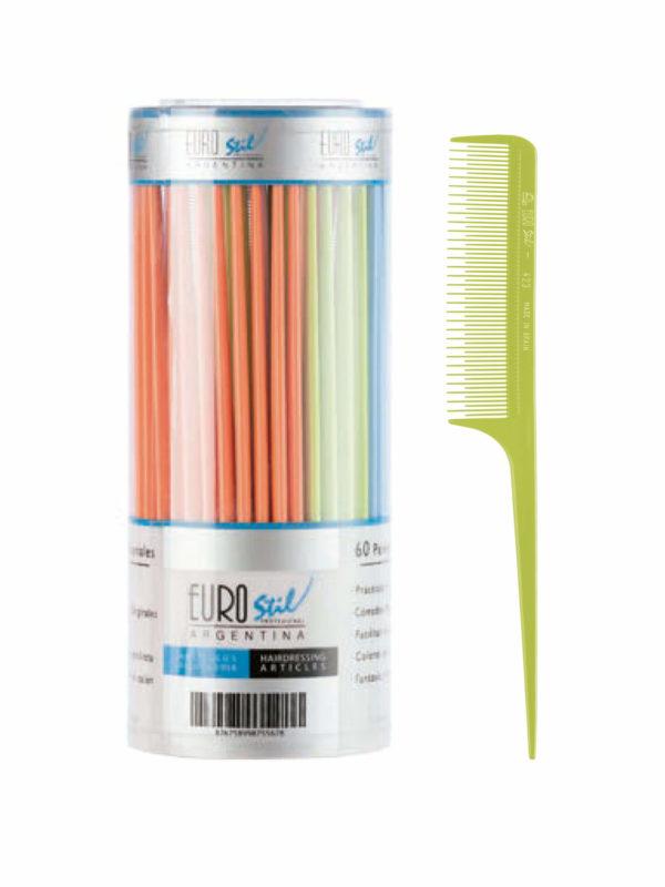 Bote 60 peines púa plástico especial colores 53849