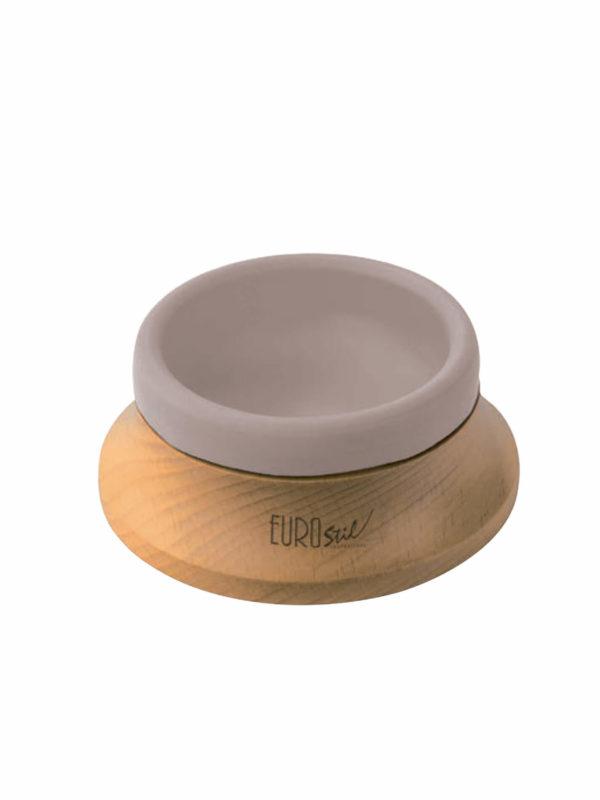 Bacia jabón eurostil Base de madera y recipiente de goma 54255